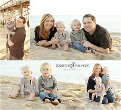 beach family portrait, newport beach, CA, baby, toddler, sand, ocean, pier, sunset, photographer, Gilmore Studios