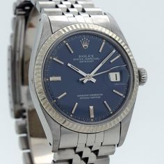 1972 Vintage Rolex Datejust Ref. 1601 14k White Gold & Stainless Steel