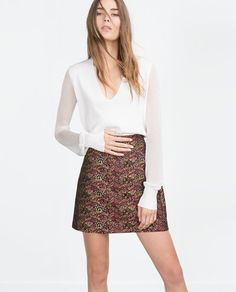 Image 3 of MINI SKIRT from Zara