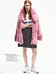 IMG Models - Julia Hafstrom | Elle Sweden January 2015