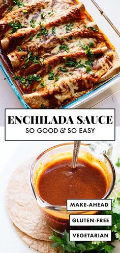 mexican dinner recipes This homemade enchilada sauce is SO EASY to make! This sauce offers authentic Mexican flavor and tastes amazing. Youll never go back to the store-bought kind. Sauce Enchilada, Recipes With Enchilada Sauce, Homemade Enchilada Sauce, Homemade Sauce, Authentic Enchilada Sauce, Homemade Enchiladas Chicken, How To Make Enchiladas, Best Enchiladas, Vegetarian Enchiladas