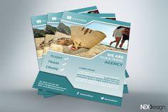 Travel Flyer - v022 by NEXDesign on @creativemarket