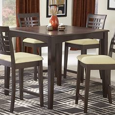 Hillsdale Tiburon 40 x 40 Counter Height Fix Top Dining TableEspresso -- For more information, visit image link.Note:It is affiliate link to Amazon.
