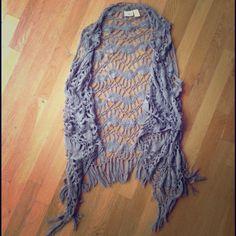 Crochet vest Crochet vest with fringe detail on bottom. Only worn once. Don't forget to bundle! :) Daytrip Jackets & Coats Vests
