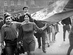 On this day in Warsaw Pact armies launched an invasion of Czechoslovakia in order to suppress democratic socialist programme of the Prague Spring Visit Prague, Prague Cz, Prague Spring, Dark Landscape, Warsaw Pact, Democratic Socialist, French Photographers, Magnum Photos, Socialism