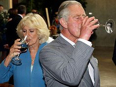 Charles and Camilla sampled some of the local wines in Nelson, New Zealand.