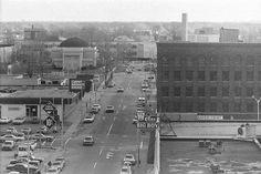 Harrison Street, Flint, Michigan, circa 1977.  Worked at Big Boy when this was taken.