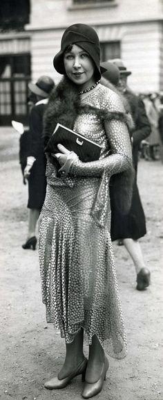 Lady at Longchamp Racing in Paris ~ 1929