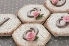 "Dolce Sentire {Galletas decoradas}: Galletas efecto craquelado y ""transfers"" de glasa {Foto Tutorial}"