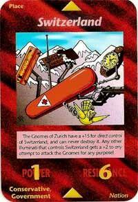 Illuminati card game - Switzerland