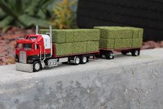 "1/64 dcp ""custom"" Kenworth COE California style tandem hay truck semi /farm toy #DCPDIECASTPROMOTIONS #Kenworth"