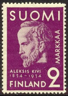 Postage stamp depicting the Finnish writer Aleksis Kivi