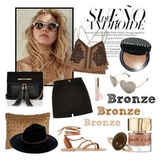"""""""Bronzed Beauty"""" by laurenleigh-bee ❤ liked on Polyvore featuring Bobbi Brown Cosmetics, River Island, Smith & Cult, Pyar & Co., Billabong, Dorothy Perkins, Betsey Johnson and Valia Gabriel"""