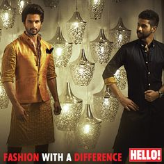 Shahid and his designer and friend Kunal Rawal #menswear #amazing #loveit