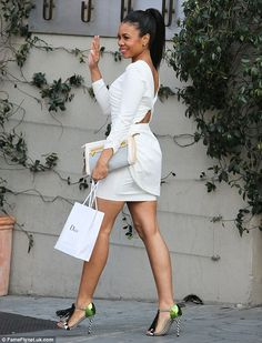 devoutfashion: Regina Hall attends Dior's Pre-Emmy luncheon Black Girls Killing It Shop BGKI NOW.Them Shoes! All White Outfit, White Outfits, White Dress, White Frock, Regina Hall, Regina King, Black Actresses, Love Fashion, Womens Fashion