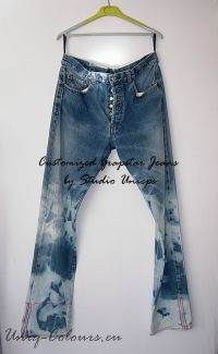 #Customized Reworkt Tie-dye bleached 'Grapstar' Jeans -  by Studio Unicps