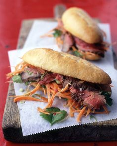 Vietnamese Steak Sandwiches: Use leftover Flank Steak with Lime Marinade to make these super sandwiches.