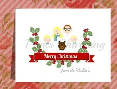 Family Portrait Personalized Christmas Card by PrinsCharming, $6.00