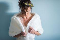 Ludivine Guillot - Robe de mariée sur mesure - Lyon - Dentelle bretelles drapé transparence dos nu ceinture satin crêpe fluide fourreau bohème chic champêtre rétro