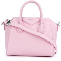 Givenchy small Antigona tote ($2,300) ❤ liked on Polyvore featuring bags, handbags, tote bags, givenchy, top handle purse, handbags totes, givenchy handbags and pink tote handbags