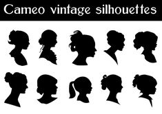 Look What I Found: Vector Cameo Silhouettes