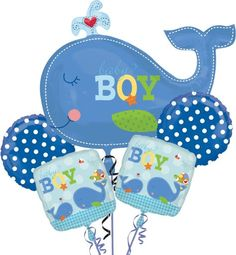 Ahoy Baby Boy Baby Shower Balloon Bouquet - Party City - $15.99