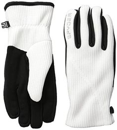 Spyder Women's Core Sweater Conduct Gloves, White, Large -- Continue to the product at the image link.
