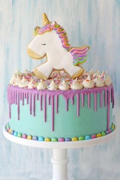 Cake is an indispensable part of every birthday party. No matter what your ages are, you will be extremely happy to have a special cake on this big day. Nowadays, buying a birthday cake is not too difficult. You can find a cake with nice decoration a Baby Birthday Cakes, Cake Baby, Birthday Cake For Kids, 4th Birthday, Birthday Ideas, Cake Images, Drip Cakes, Savoury Cake, Cute Cakes