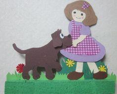 la petite fille et son chien