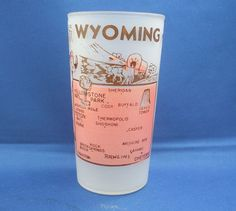Wyoming Frosted Souvenir Tumbler Glass