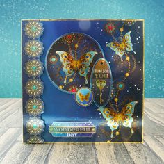New Hunkydory Midnight Butterflies Butterfly Mirri Topper Decks x 18