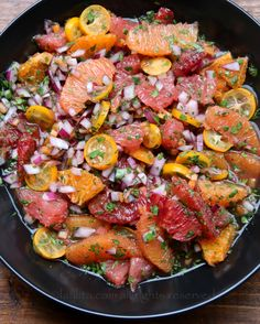 Citrus habanero salsa recipe made with a selection of citrus fruits, habanero peppers, red onion, lime juice, cilantro, and cumin.
