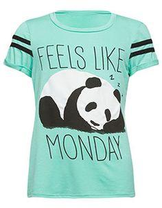 f85122c0a FULL TILT Panda Monday Girls Tee Mint Panda Love, Cute Panda, Red Panda,