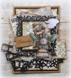 masculine Get well card by Jolanda Bergmans... Mo Manning image - the engineer