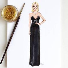 Style of Brush by Gizem Kazancigil #fashionillustration gizem kazancigil (@gizemkazancigil) #goldenglobes #emiliaclarke