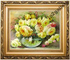 Obraz Kwiaty olejny ręcznie malowany slub prezent