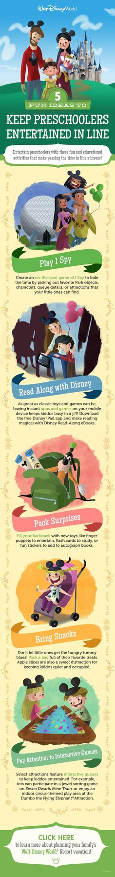 5 Fun Ideas to Keep Preschoolers Entertained in Line at Walt Disney World!