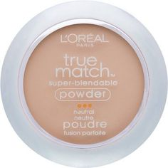 L'Oreal Paris True Match Super-Blendable Powder, Classic Ivory: True match powder precisely matches your skin's tone and texture and coordinates perfectly with true match makeup, blush, concealer and bronze glow. Micro-fine powder provides versatile coverage: you can blot shine, blend for a natural finish, or build your own.