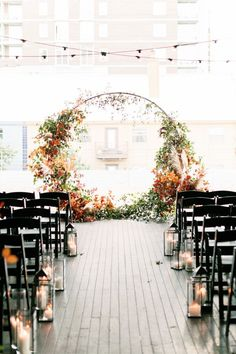 A Century Gothic Fairytale at Brazos Hall - The perfect modern fall wedding look. The perfect modern fall wedding look. The perfect modern fall - Fall Wedding Arches, Wedding Ceremony Decorations, Wedding Themes, Wedding Venues, Decor Wedding, Whimsical Wedding Decor, Modern Wedding Ideas, Wedding Backdrops, Modern Wedding Decorations