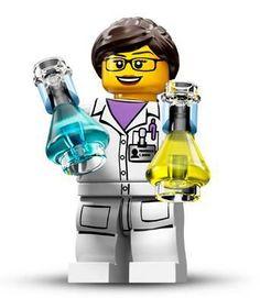 Lab science lego mini figure