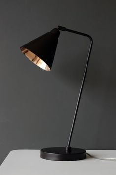 Industrial Style Brown and Copper Desk Lamp