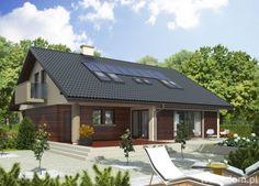 Casa cu exterior culoarea cappuccino si lemn cires inchis