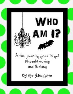 Halloween Game – Who Am I? Guessing Game – Any Age Halloween… everyones a monster and they have to guess who they are by asking ys or no questions… fun :] Fun Halloween Games, Popular Halloween Costumes, Holidays Halloween, Halloween Crafts, Halloween Party, Speech Activities, Holiday Activities, Therapy Activities, Library Activities