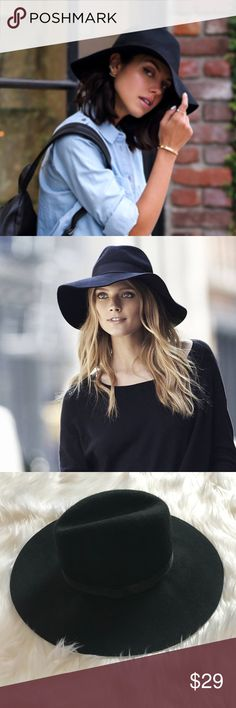 NWT Express Black Wool Felt Hat Brand: Express Color: Black Condition: New With Tags Product Details: The matador's pinched crown and large floppy brim blends boho chic soul with a milliner's sensibility. Size: One Size Material: Wool MSRP: $49.90 Express Accessories Hats