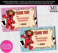 Cowboy Elmo Thank You Cards, Western Elmo Thank You Notes, Elmo, Thank You Card , Elmo Thank You Cards