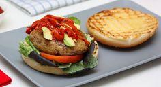 Grilled Mushroom and Tomato Burger Recipe