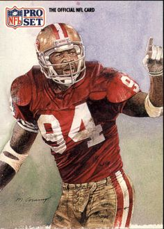 SF Charles Haley by Merv Corning 49ers Players, Nfl Football Players, Football Art, Vintage Football, Canadian Football, American Football, Charles Haley, 49ers Nation, Nfl 49ers