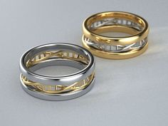 10K Two tone Gold DNA Ring by ZandersCreations on Etsy, $1099.00