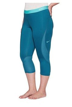 2db8e3a66fa60 Nike Womens Plus Sz 2xl Pro Hypercool Compression Leggings Pants Teal  894759-457 for sale online | eBay