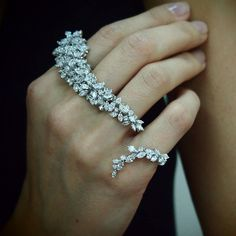 "DIAMOND ""CHANDRA II"" RING by Yeprem Diamond & 18K White Gold Ring Custom-made"
